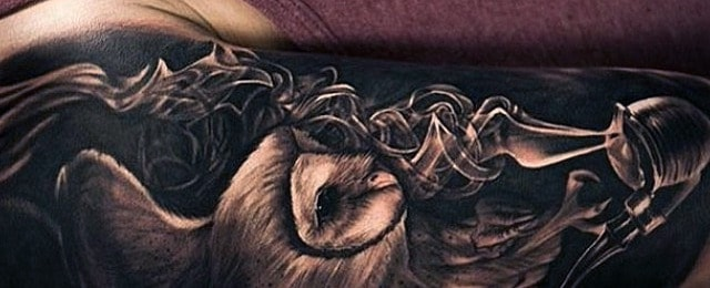 Owl Sleeve Tattoos For Men