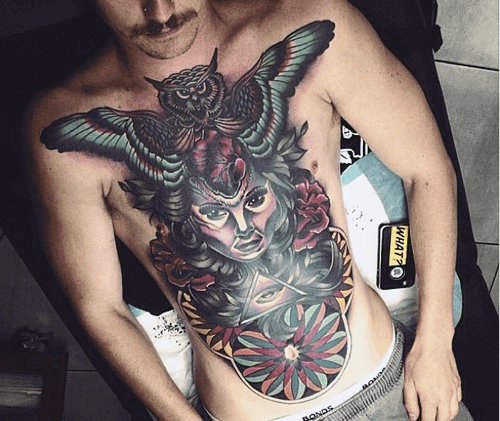 70 Owl Chest Tattoo Designs For Men