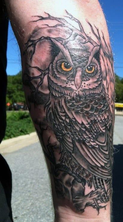 Owl Tattoo Wrist Piece Men