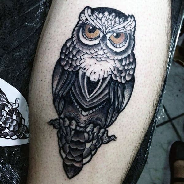 Owl Wings Tattoo Sleeve For Men