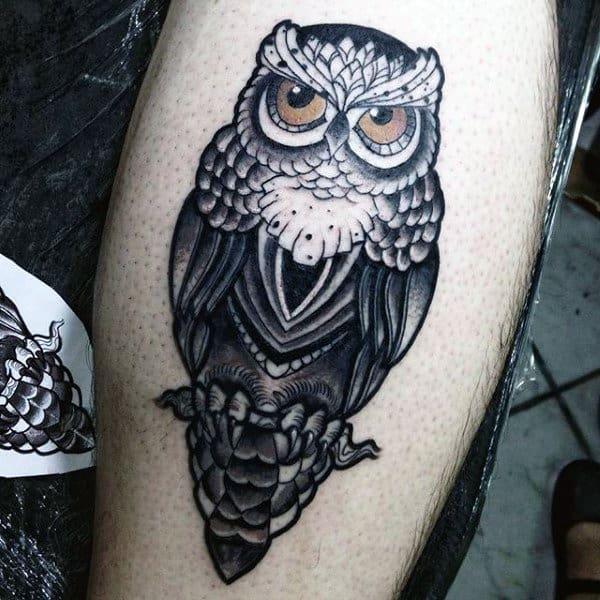 Owl Wings Tattoo Sleeve For Men