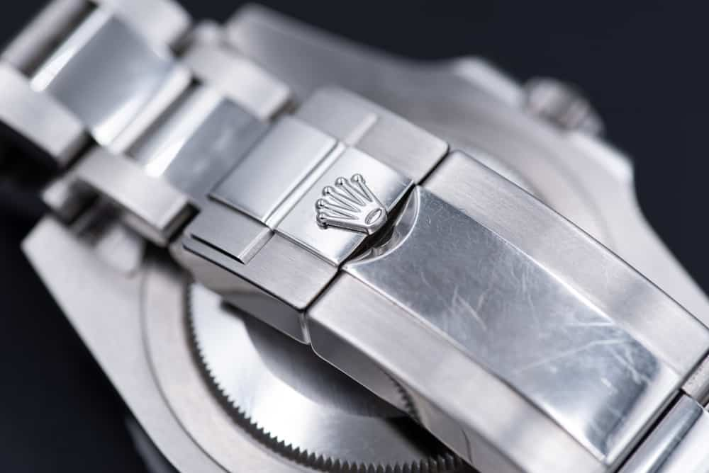 oysterclasp on the steel bracelet of rolex gmt master II model 116710blnr
