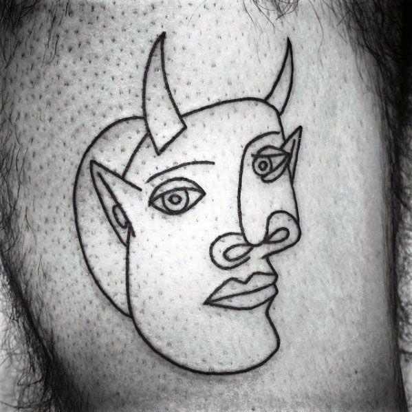 Pablo Picasso Guys Tattoo Designs
