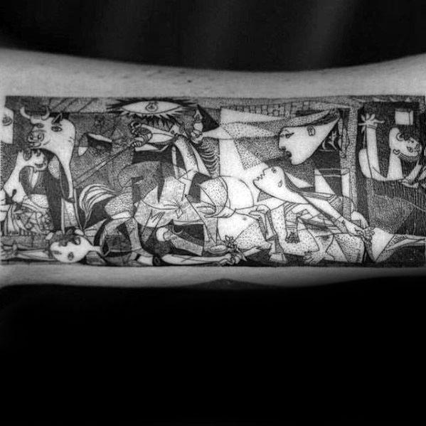 Pablo Picasso Tattoo On Men