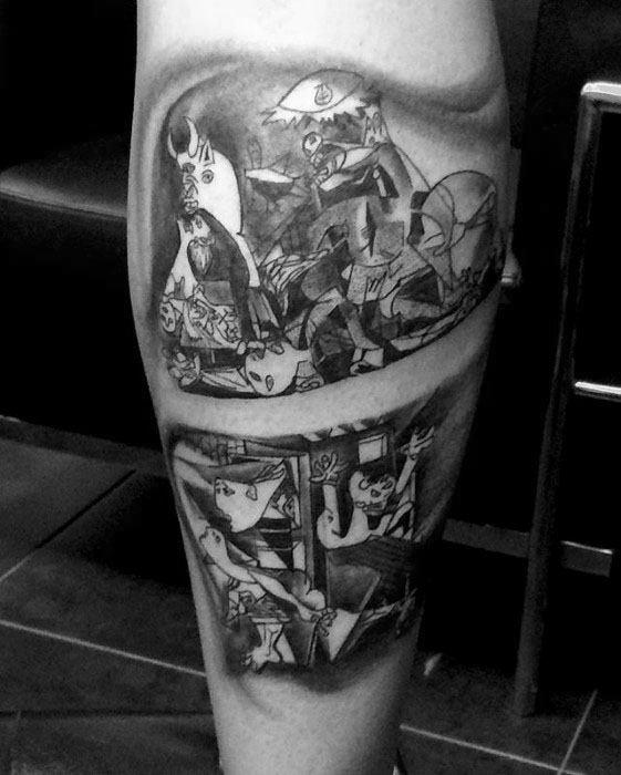 Pablo Picasso Tattoos Men Leg