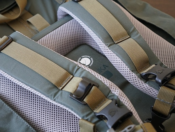 Padded Shoulder Straps Fjallraven Kajka Backpacks