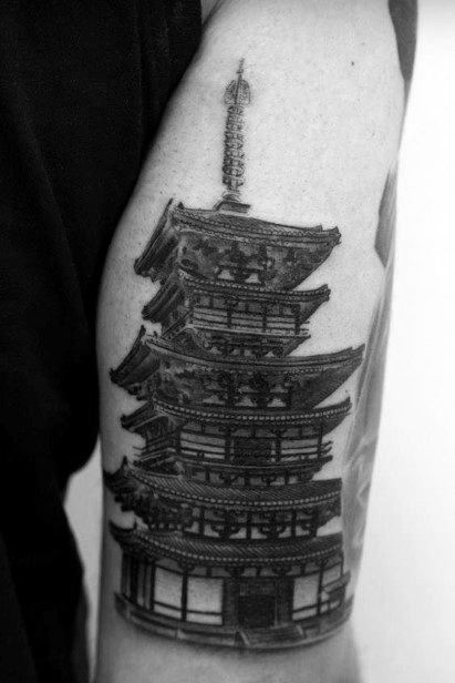 Pagoda Guys Tattoo Designs
