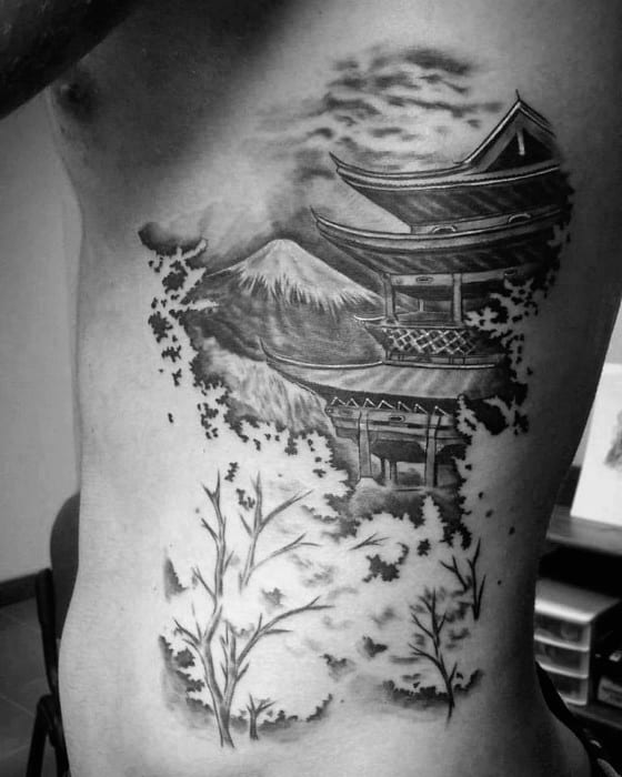 Pagoda Male Tattoo Designs