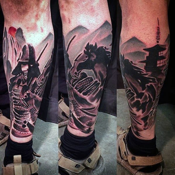 Pagoda Mens Tattoo Designs