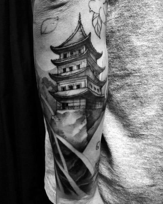 Pagoda Tattoos Male