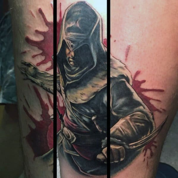 60 Assassins Creed Tattoo Designs für Männer - Videospiel-Ink-Ideen