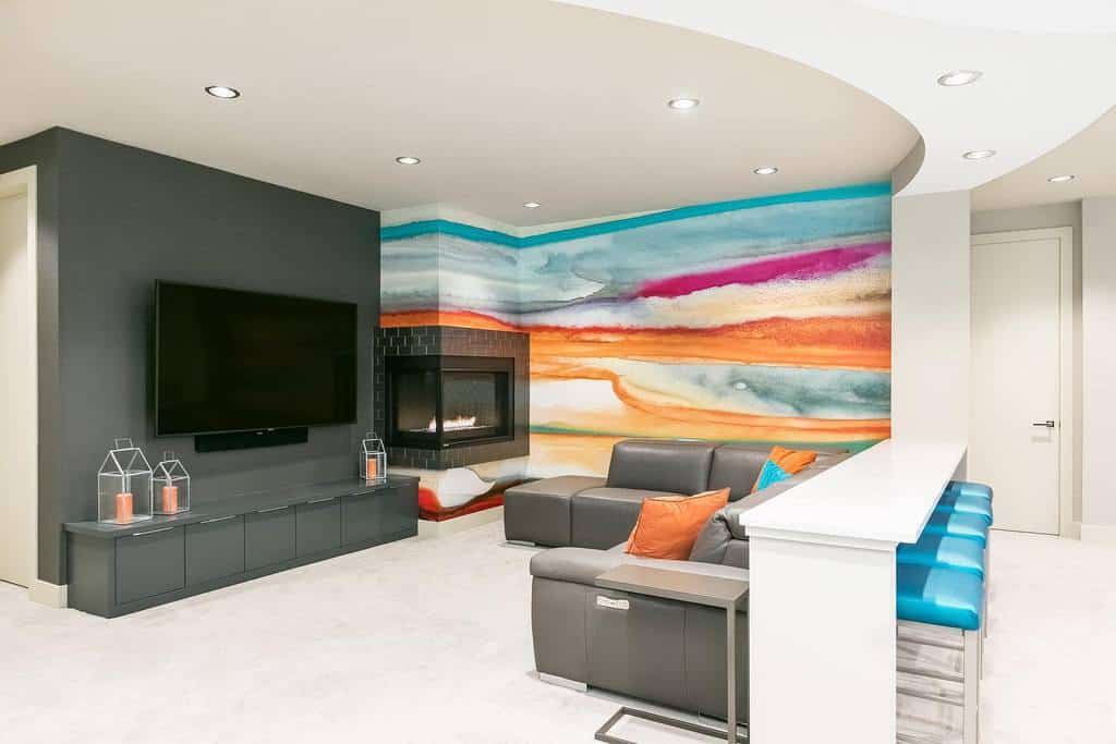 painted basement wall ideas fbcremodel