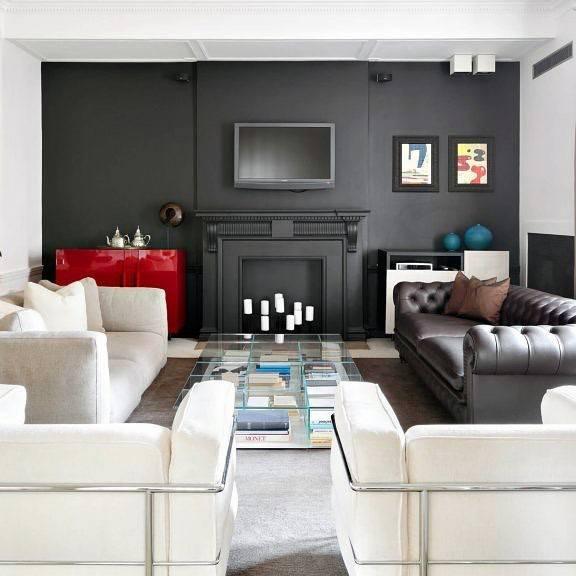 Painted Black Fireplace Design Idea Inspiration