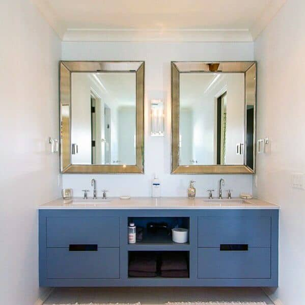 Painted Blue Bathroom Vanity Design Ideas