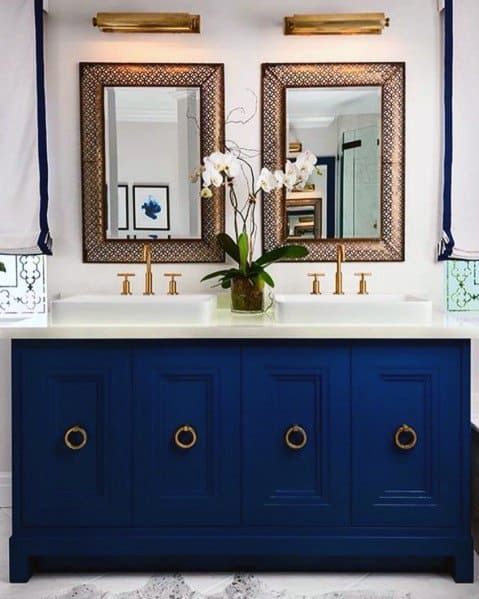 Painted Blue Home Ideas Bathroom Vanity