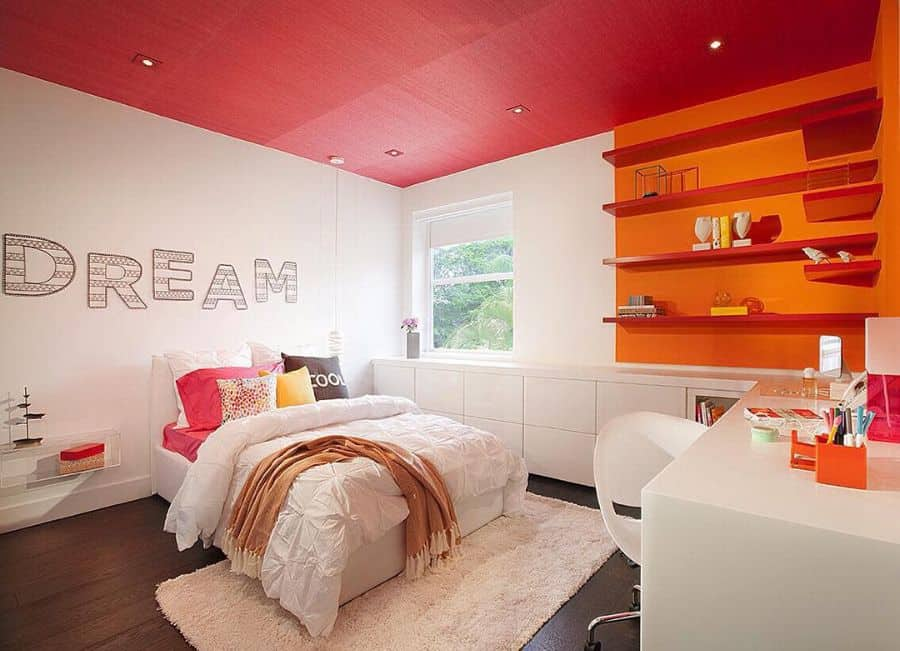 painted ceiling bedroom paint ideas dkorinteriors