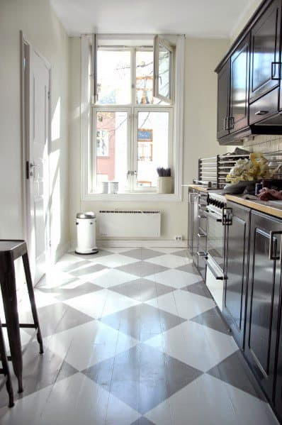Painted Floor Design Idea Inspiration For Kitchen
