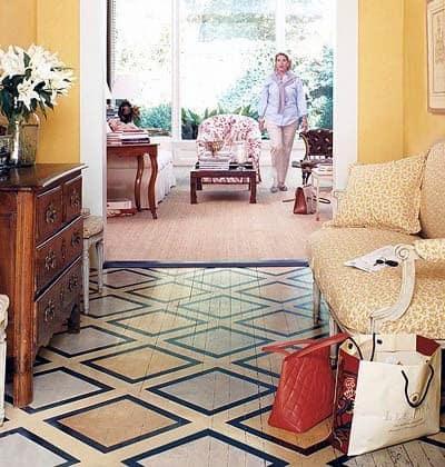 Painted Floor For Foyer
