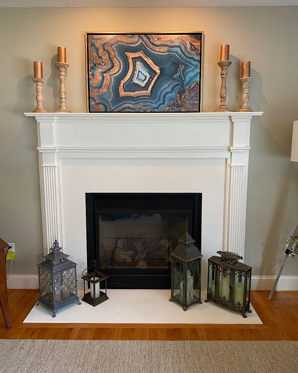 Painted Granite White Fireplace Surround Thomasmachinteriors