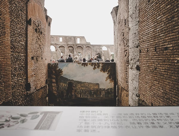 Painted Interior Of The Colosseum View