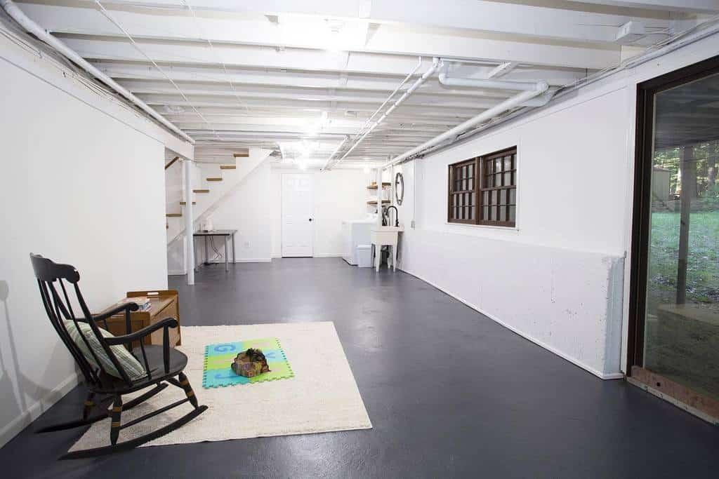 painted low basement ceiling ideas ap.hd