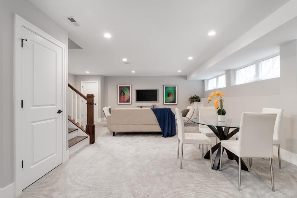 painted low basement ceiling ideas
