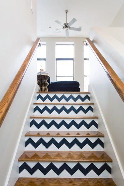 Painted Staircase Interior Ideas