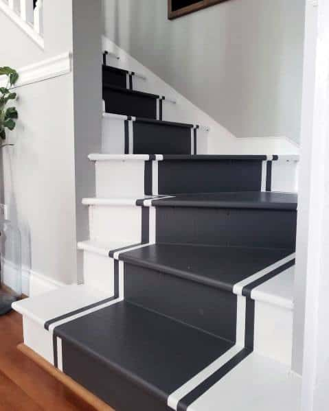 Painted Stairs Design Idea Inspiration