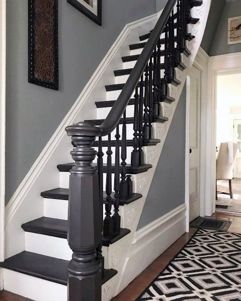 Painted Stairs Design Inspiration