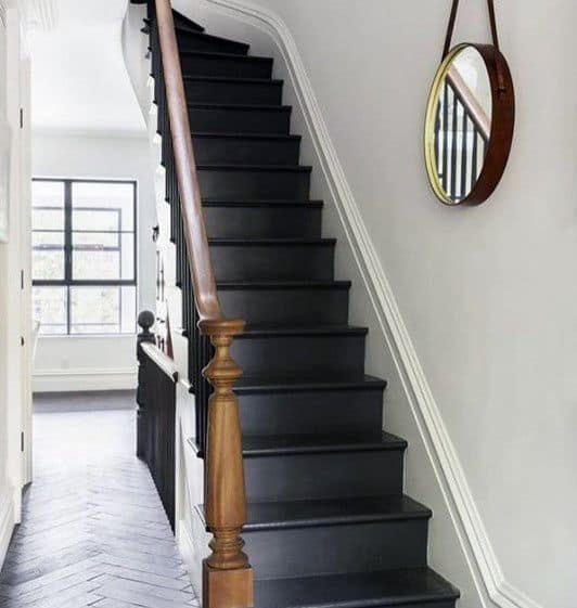 Painted Stairs Home Designs