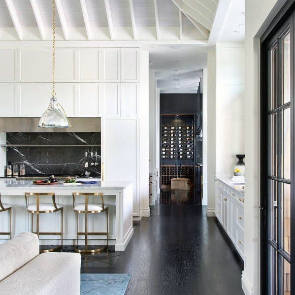 Painted White Rafters Kitchen Ceiling Ideas