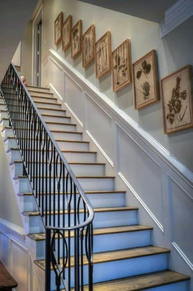 Painted White Staircase Trim Wall Ideas