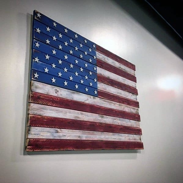 Painted Wood American Flag Diy Man Cave Ideas
