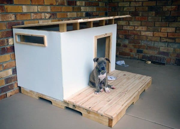 Pallet Floor Custom Dog House Design Ideas