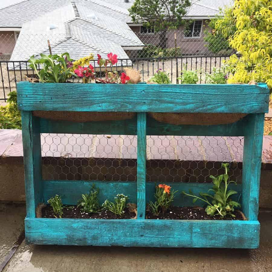 pallet flower box garden ideas erikarene