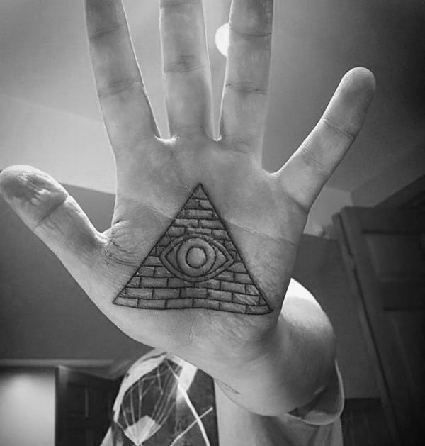 Palm Pyramid Mens Tattoo Ideas