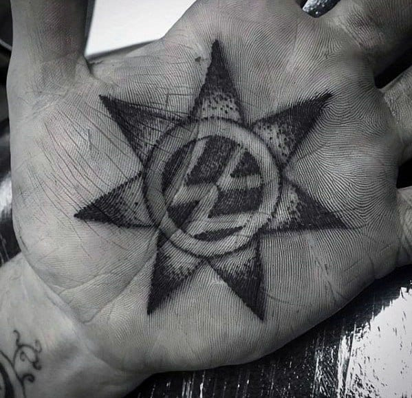 Palm Star Mens Volkswagen Wv Tattoo Design Inspiration
