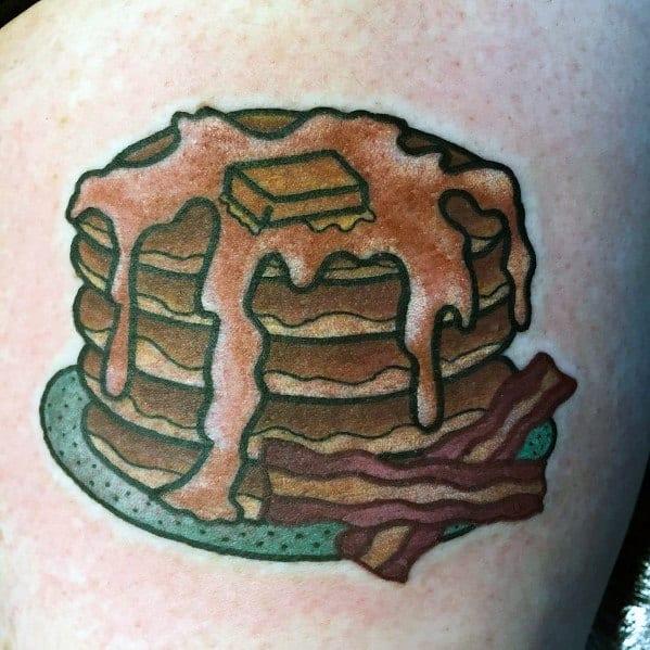 Pancake Tattoo Designs For Gentlemen
