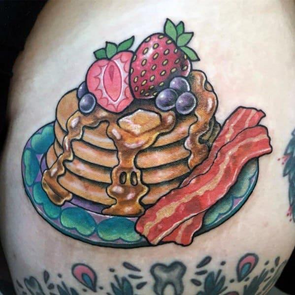 Pancake Tattoo Designs For Men