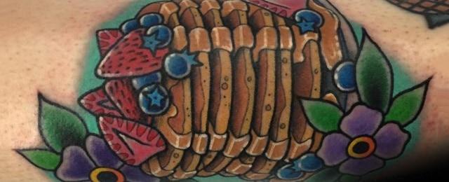 Pancake Tattoo Ideas For Men