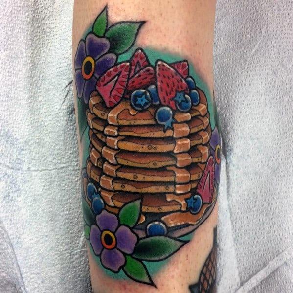 Pancake Tattoo Inspiration For Men