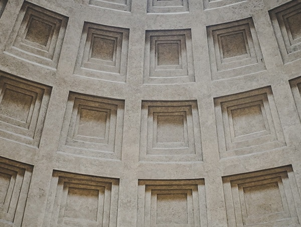 Pantheon Ceiling Details Coffered Dome