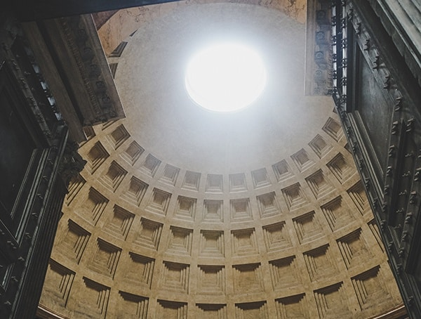 Pantheon Dome Looking Upwards
