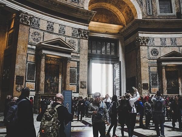 Pantheon Interior Massive Doorway
