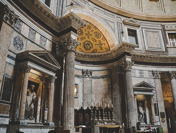 Pantheon Rome Italy Interior