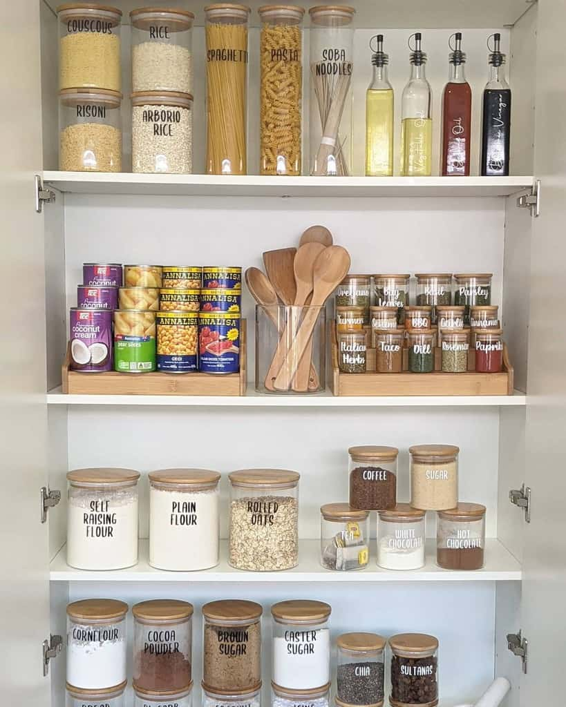 pantry kitchen organization ideas blissfullittlehome