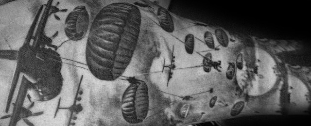 30 Parachute Tattoo Designs For Men Sky Diving Ink Ideas