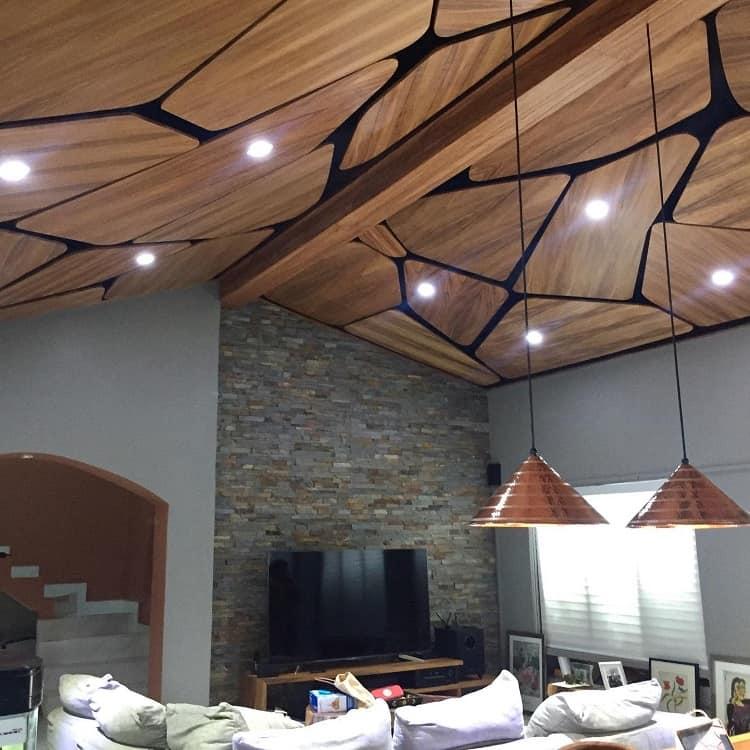 Parota Wood Design Suspended Ceiling