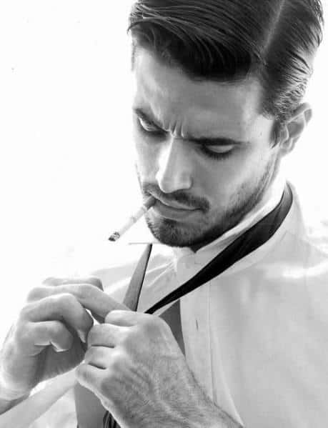 Parted Men's Hairstyle Cuts