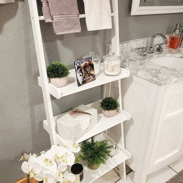 Pastel Open Bathroom Shelving Unit Riverridgehome